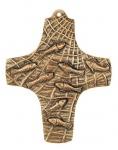 Kommunionkreuz Fische im Netz 9, 5 x 7, 5 cm Bronze Kreuz Kruzifix Erstkommunion