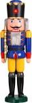 Nussknacker König blau 60 cm Holz-Figur Handarbeit aus Seiffen im Erzgebirge
