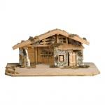 Ulrich Krippe Südtirol Stall Naturmaterial für 12 cm Krippe