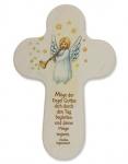 Kreuz für Kinder Engel Irischer Segen 15 cm Kruzifix Holz-Kreuz Wandkreuz