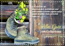 Postkarte Blumen Alles Gute zum Geburtstag (10 Stck) Glückwunschkarte Kuvert