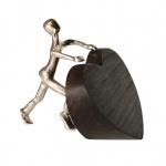 Bronzefigur Ich schenke dir mein Herz 11 cm Bronzeskulptur