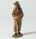 Tiroler Krippe Hirte mit Stock bemalt bunt 15 cm Krippen Figur Weihnachten