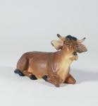 Ochse liegend Mesner-Krippe 22 cm Holz geschnitzt Krippen Figur Weihnachten