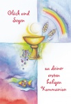 Kommunionkarte Glück und Segen Kommunion (6 Stck) Grußkarte Erstkommunion Kuvert