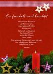 Postkarte Es funkelt und leuchtet (10 Stck) Gedicht Kerze Weihnachtskarte