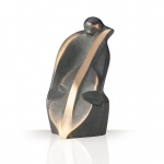 Bronzefigur Cello 10 cm Bronze Skulptur patiniert