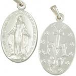 Wunderbare Wundertätige Medaille 23 mm 925 Sterlingsilber