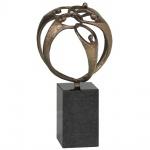 Skulptur Der Zusammenhalt 20 cm Granitsockel Mitarbeitergeschenke