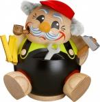 Räuchermännchen Heimwerker 11 cm Seiffen Erzgebirge Handarbeit Holzfigur