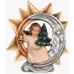 Stern mit Glockenengel Holzfigur geschnitzt handbemalt Engelfigur Südtirol