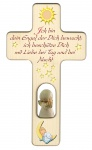 Kreuz für Kinder Schutzengel Gebet Baby Engel rot Kruzifix Holz-Kreuz Wandkreuz