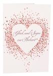 Glückwunschkarte Glück und Segen zur Hochzeit (6 St) Herzen Matthäus Lutherbibel