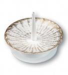 Kerzenleuchter Metall, weiß/goldfarben Ø 10 cm Kerzenhalter