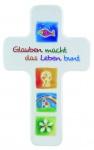 Kinderkreuz zur Erstkommunion, Buche 18 cm