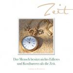 Doppelkarte Ludwig van Beethoven Zeit (3 St) Grußkarte Sinnspruch Lebensweisheit