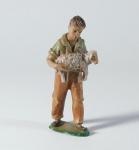 Tiroler Krippe Hirte mit Schaf bemalt 15 cm Krippen Figur Weihnachten
