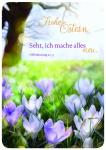 Postkarte zu Ostern Lila Krokusse Frohe Ostern (10 St) Glückwunschkarte