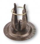 Kerzenständer Schmiedeeisen bronziert 10 cm Metall Kerzenhalter Kommunion