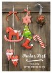 Postkarte Frohes Fest und ein gutes neues Jahr (10 Stck) Dekoration Weihnachten