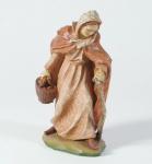 Krippenfigur Hirtin alt mit Stock Malsiner Krippe Krippen Figur Weihnachten