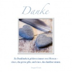 Danksagungskarte Dankbarkeit (3 Stck) Irmgard Erath Doppelkarte Kuvert