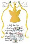 Glückwunschkarte zur Taufe Schutzengel (5 St) Tauben mit Engelanhänger I. Erath
