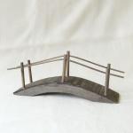 Brücke handgefertigt Holz 23 cm Zubehör für Weihnachtskrippe