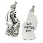 Medaillon Beschützende Hand 3 cm Religiöser Schmuck