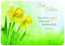 Postkarte zu Ostern Osterglocken Frohe Ostern (10 Stck) Glückwunschkarte