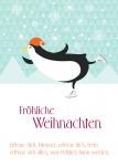 Postkarte Fröhliche Weihnachten (10 Stck) Liedtext 17. Jahrh. Weihnachtskarte