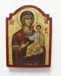 Ikone Madonna 14 x 10 cm Gottesmutter mit Kind vergoldet Handarbeit Griechenland