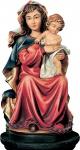Madonna sitzend Holzfigur geschnitzt Südtirol Maria Mutter Gottes Figur