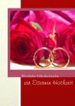 Hochzeitskarte Eiserne Hochzeit (3 Stck) Glückwunschkarte Kuvert