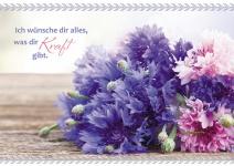 Postkarte Blumenstrauß Ich wünsche dir (10 Stck) Glückwunschkarte Grußkarte