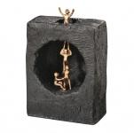Bronzeskulptur Sich gegenseitig helfen 19 cm Deko Bronzefigur Kerstin Stark