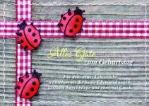 Postkarte Marienkäfer Alles Gute zum Geburtstag (10 Stck) Grusskarte