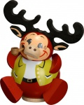 Räuchermännchen Elchy 12 cm Seiffen Erzgebirge Handarbeit Holzfigur