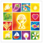 Wandrelief Glas 13, 5 cm Erstkommunion-Geschenk zur Kommunion