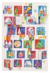 Adventskalenderkarte Glückliche Momente für jeden Tag (6 St) Kuvert