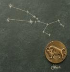 Wandrelief Sternzeichen Stier 14, 5 cm Swarovski Schiefertafel