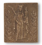 Namenstag Barbara Bronzeplakette 13 x 10 cm Namenspatron
