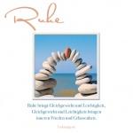 Doppelkarte Ruhe und Gelassenheit (3 Stck) Grußkarte Sinnspruch Lebensweisheit