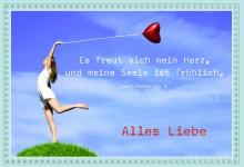Geburtstagskarte Psalm Alles Liebe (6 Stck) Glückwunschkarte Kuvert