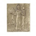 Namenstag Birgitta Bronzeplakette 13 x 10 cm Namenspatron