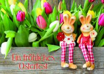 Osterkarte Ein fröhliches Osterfest (10 Stck)