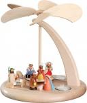 Weihnachtspyramide Christi Geburt 25 cm Seiffen Erzgebirge Handarbeit Holz