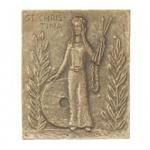 Namenstag Christina Bronzeplakette 13 x 10 cm Namenspatron