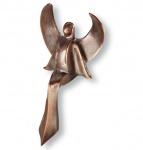 Taufgeschenk Schutzengel Il Angelo Piccolo 15 cm Bronzeengel Bronze Figur