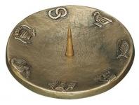 Kerzenleuchter mit 7 Symbolen Ø 12 cm Bronze Kerzenhalter